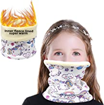 Winter Kids Neck Warmer Infinity Scarf Neck Gaiter Half Face Protective Face Cover Reusable Washable Cute Masks For Cold W...