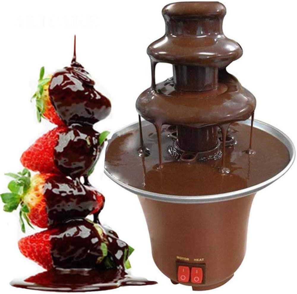 Stainless Steel Chocolate Fondue 3 Melti Fountain Tier Year-end Max 59% OFF gift