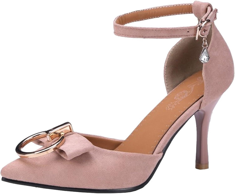 RizaBina Women Ankle Strap Sandals Pointy