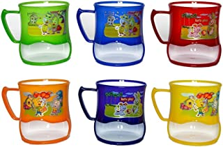 Perpetual Bliss (Pack of 12) Fancy Milk Mugs for Kids with Snacks Holder/Shakes/Juices/Coffee/Birthday Return Gifts
