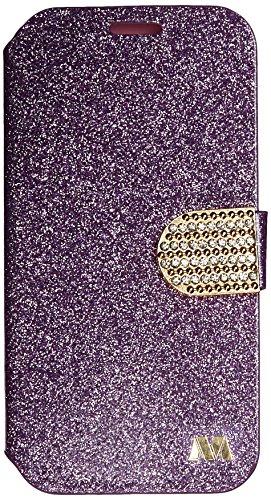 Asmyna MyJacket Schutzhülle für Alcatel 7040 One Touch Fierce II, glitzernd, mit Gürtelschlaufe, Violett