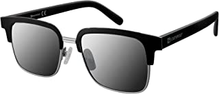 Southpole Men's 5014sp-msvbk 5014SP-MSVBK Square Sunglasses, Matte Silver/ Black, 54 mm