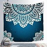 N / A Nueva Serie Mandala Tapiz Tapiz de Pared Impresión Toalla de Playa Alfombra de poliéster Manta Fina Esterilla de Yoga Alfombra de mantón Alfombra Decoración para el hogar ZX16 150x150cm