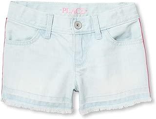 The Children's Place Girls' Big Denim Stripe Shorts