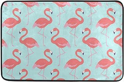 Flamingos Muster Doormat, Entry Way Indoor Outdoor Door Rug with Non Slip Backing, (23.6 x 15.7-Inch)