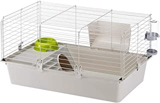 Cavie Guinea Pig Cage & Rabbit Cage | Pet Cage Includes Free Water Bottle, Hay Feeder, Hide-Out & Food Bowl