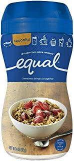 Equal 0 Calorie Sweetener, Granulated 4 oz (Pack of 4)