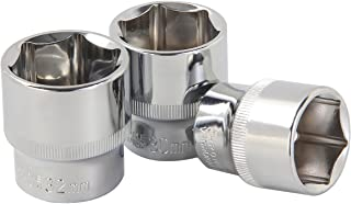 "KSEIBI (25/32"") 1/2-Inch Drive SAE Socket 6-Point Long Hex Socket, CRV Material"