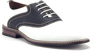 Men's 19268A Two Tone Saddle Oxfords Dress Shoes