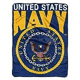 U.S. Navy, 'Enlarge' Micro Raschel Throw Blanket, 46' x 60', Multi Color