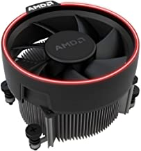 AMD Wraith Spire RGB LED Lighting Socket AM4 4-Pin Connector CPU Cooler with Copper Core Base & Aluminum Heatsink & 4.05-Inch Fan with Pre-Applied Thermal Paste for Desktop PC Computer (TS48)