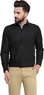 Camier Formal Cotton Plain Shirt for Men's