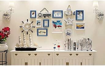 Photo Wall Creative Living Room White Blue Decorative Gift Modern Art Photo Frame Photo Wall (Color : Blue)