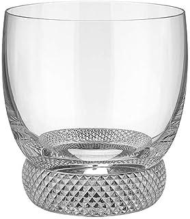 Villeroy & Boch Octavie Whiskey, Nostalgic Crystal Glass with Pebble Decoration Below The Goblet, Clear, Dishwasher Safe, ...