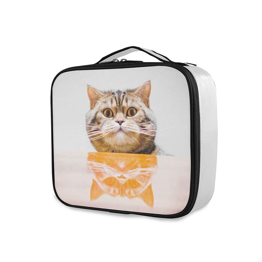 保育園腐敗派生するChovy メイクボックス 大容量 機能的 化粧ポーチ ネコ 猫 猫柄 かわいい 可愛い おもしろ クール 個性 メイクケース 防水 コスメボックス メイクポーチ 仕切り 小物整理 ブラシ入れ付き プロ用 化粧品収納 バッグ 旅行