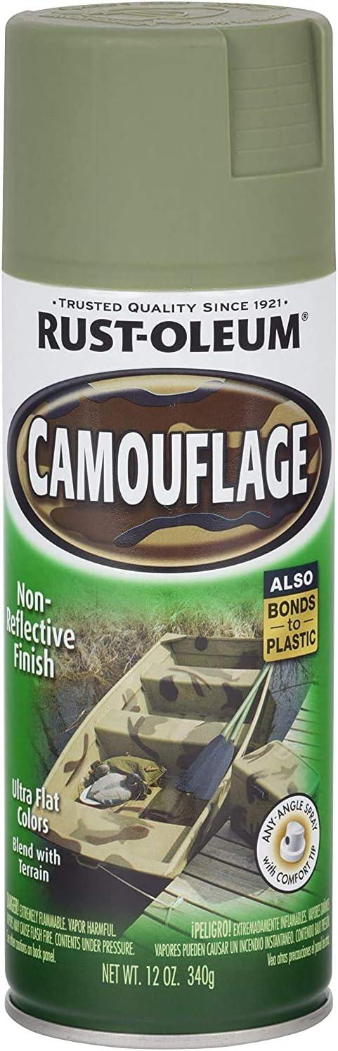 Rust Oleum 1920 830 1920830 Camouflage Spray Army Green 12 Ounce 12 Oz Spray Paints Amazon Com
