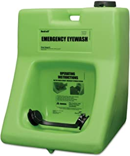 Honeywell Safety Products USA 16 Gallon Fendall Porta Stream II Portable Eye Wash Station with 180 Ounce Saline Cartridge