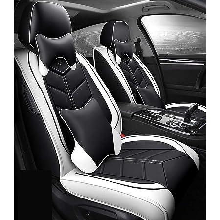 Allyard Auto Sitzbezüge Für Mer Cedes B Enz Glc Gle Gls M Amg Vordersitze Auto Sitzbezüge Pu Leder Sitzauflage 2 Stück Schwarz Rot Auto