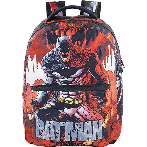 Mochila Batman T3 - 9072 - Artigo Escolar Batman, Vermelho