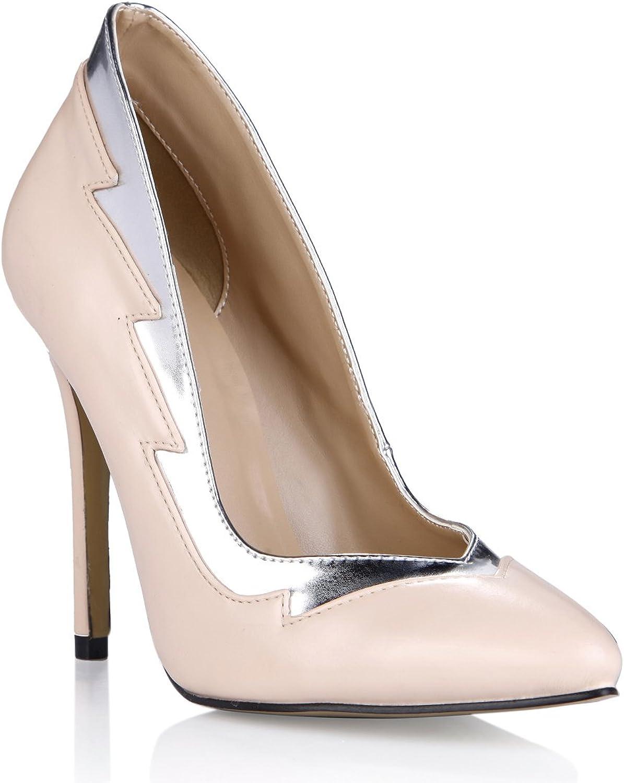 Dolphin Women's Fashion Nude Slim Fit Stiletto High Heel Pump shoes SM00036