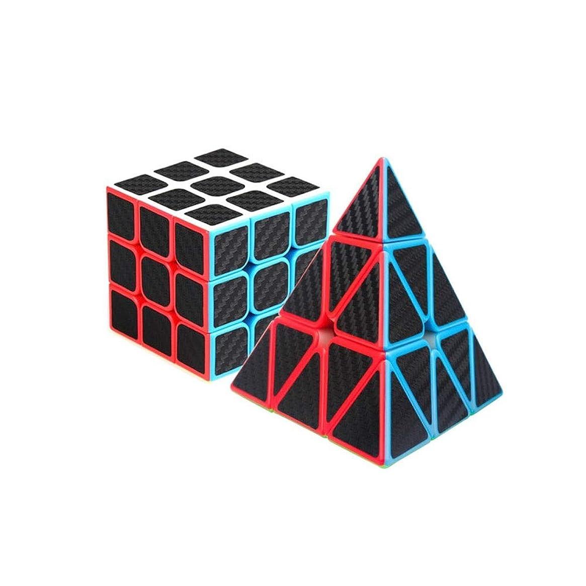 酔うパターンクランシーGaoxingbianlidian ルービックキューブ、ピラミッドスタイル、ルービックキューブの3次パッケージ、スムーズな使用、ギフトとして使用可能(2袋) 良質 (Edition : Pyramid and third order)