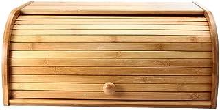 aolongwl Boîte de Conservation des Aliments Top en Bois Pain Pain Bin Cuisine Boîte De Rangement des Aliments Conteneur Or...
