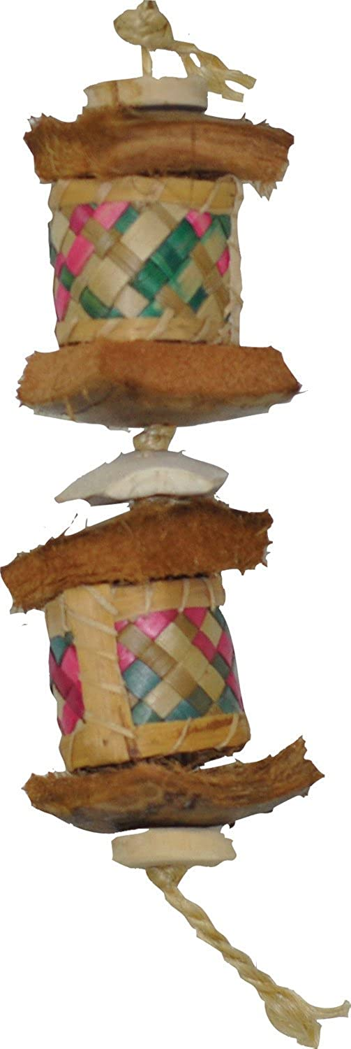 A&E CAGE Company 001183 Java Wood Surprise Drum Bird Toy Assorted, Small
