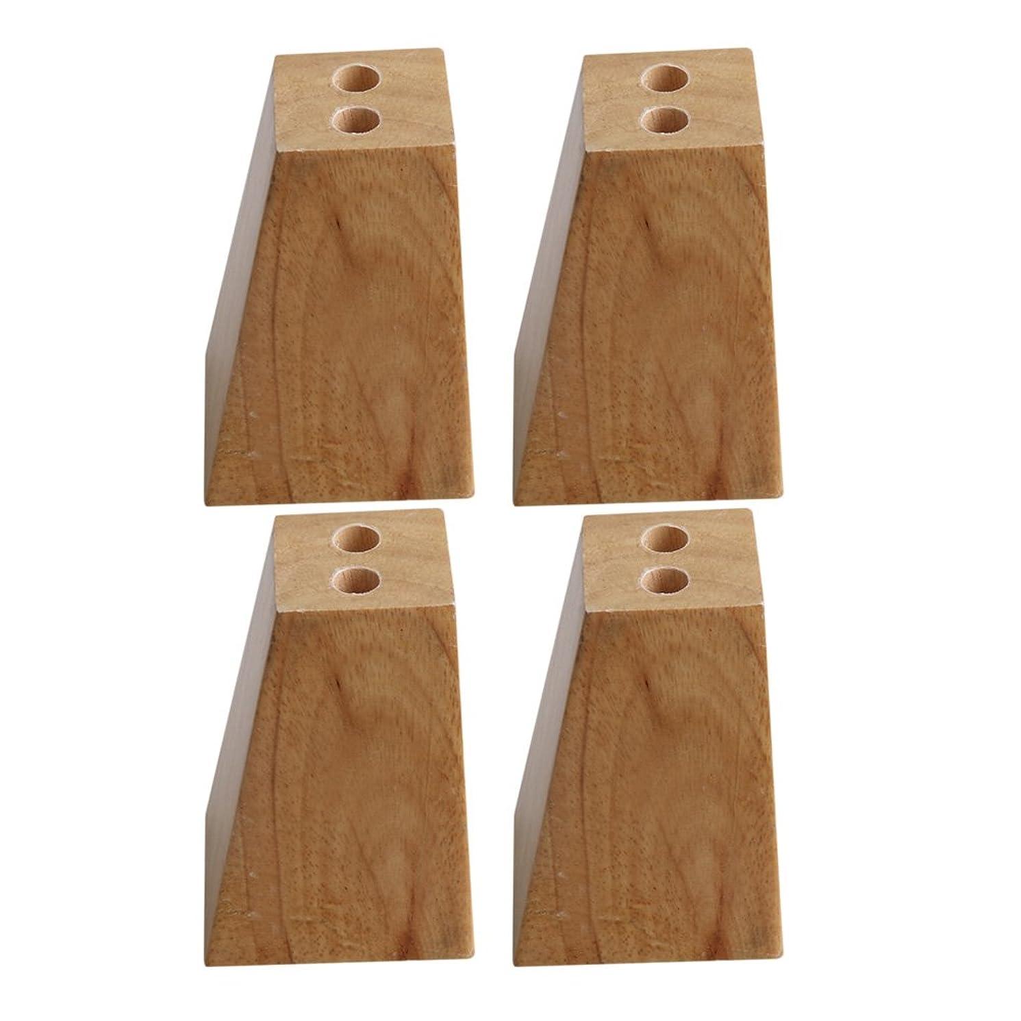 4Pcs 82mm Height Oak Wood Furniture Legs Couch Dresser Armchair Feet Burlywood