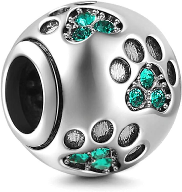 DIY Fashion 925 Silver Dog Charm European Spacer Beads Fit Necklace Bracelet !!!