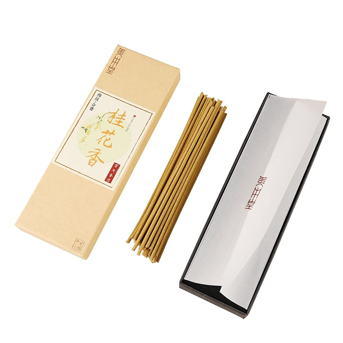 無人交渉する聡明shanbentang Incense Sticks、純粋な自然手作りお香、sweet-scented Osmanthus 's Fragrance、プレミアム品質(5.5?in/50?sticks)