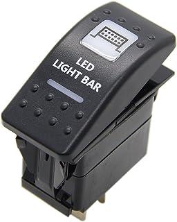 Rocker Switch Illuminated LED Light Bar for Polaris Ranger UTV Can Am Maverick Commander By KanSmart (White Led)