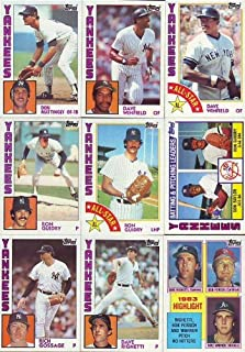 1984 Topps Baseball Complete Mint 792 Card Set with Don Mattingly and Darryl Strawberry Rookies!