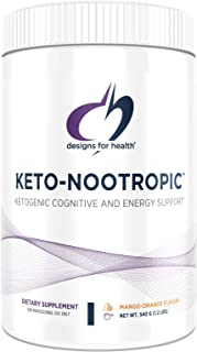 Designs for Health Keto-Nootropic - Exogenous Ketones Powder Supplement for Energy, Focus + Cognitive Support - Exo Ketone...