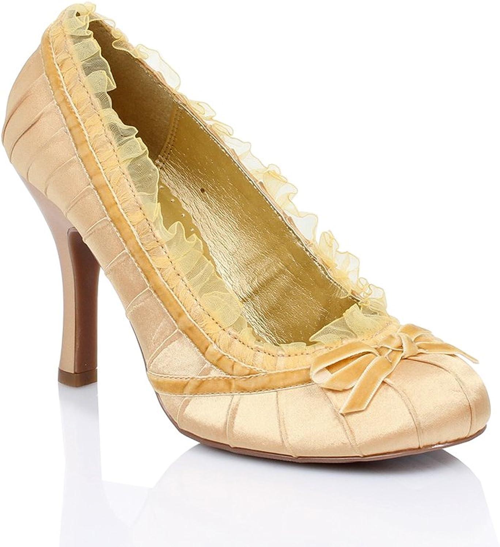 Ellie shoes Women's HA67 gold Pumps 9 B(M) US