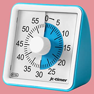Time Timer, TREKOO 60 Minute Visual Analog Timer, Silent Ticking Countdown Clock for Kitchen, Office, Classroom, Time Management Tool for Kids, Adults