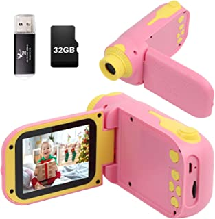 """Kids Video Camera for Girls Gift,hyleton 1080P FHD Digital Kids Camera Camcorder Video Recorder DV with 2.4"""" Screen for Ag..."""