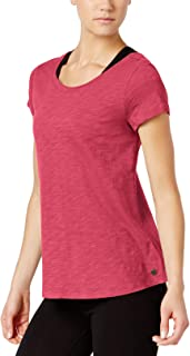 Calvin Klein Performance Womens Fitness Yoga T-Shirt Pink M