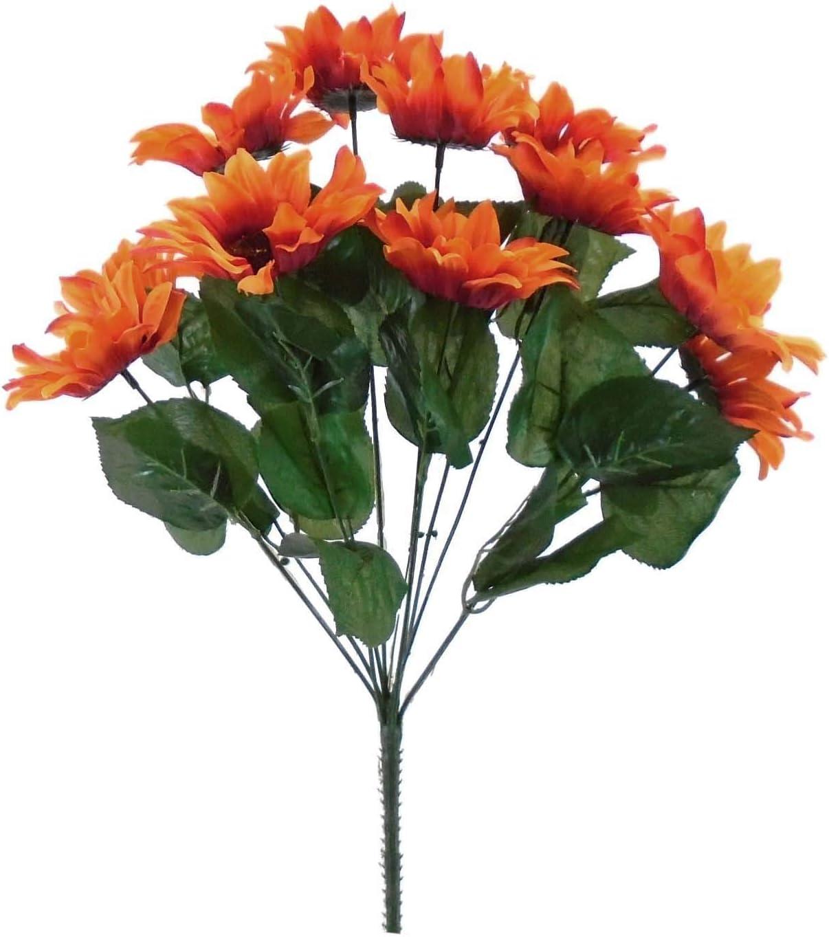 ORANGE Sunflowers Max 61% OFF Bush Satin Artificial Flowers supreme Bouquet 11-4 19