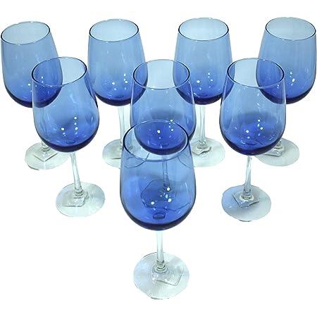 """Details about  /Vintage Blue Stem Wine Glass 7.5/"""""""