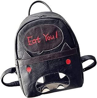 nikunLONG Bags Women's Retro small Daypacks College School Book Bag Shoulder Bag Backpack Graffiti Shoulders Bag