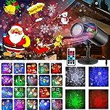 MOREASE Projecteur Noël Exterieur, Projecteur LED Lumières de Décoration Noël Imperméables avec 20 Motifs Approprié pour...