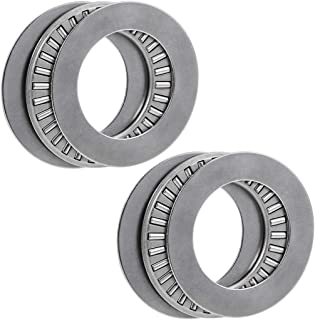 uxcell Tc1625 Needle Roller Thrust Bearings with Washers 1-inch Bore 1-9/16-inches Od 5/64-inch Width 11000rpm Limiting Speed 2pcs