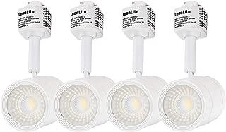 LEONLITE 4-Pack 8.5W (50W Eqv.) Integrated CRI90+ LED White Track Light Head, Dimmable 38° Spotlight Track Light, 550lm Energy Star & ETL Listed for Wall Art Exhibition Lighting, 4000K Cool White