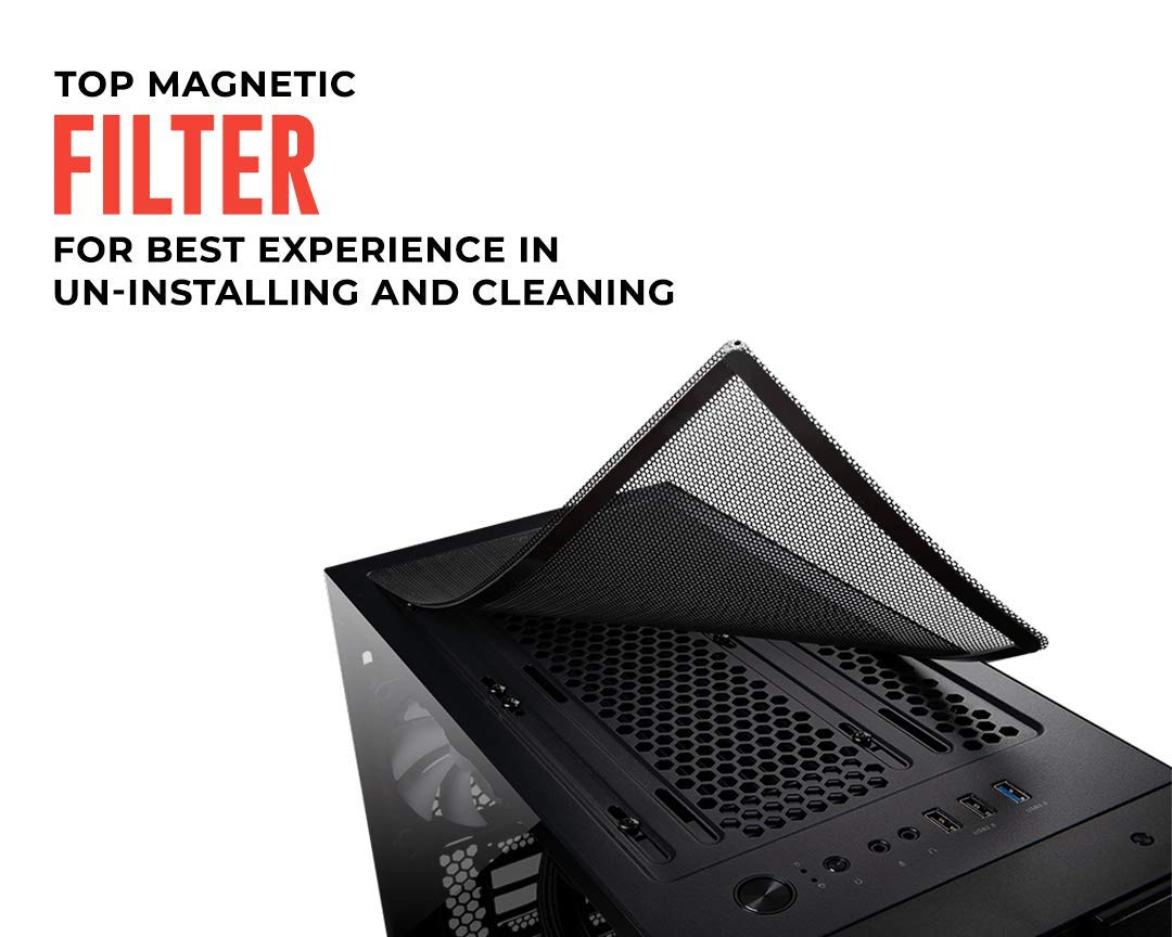 MSI mag VAMPIRIC 010X Mid-Tower Caja de PC Gaming (Negro, 1 x 120 mm ARGB Ventilador Incluido, 1 to 4 ARGB LED HUB Incluido, Panel Cristal Templado, ATX, mATX, Mini-ITX): Msi: Amazon.es: