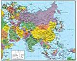 Swiftmaps Asia Wall Map GeoPolitical Edition (36x44 Laminated)