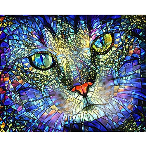 AJleil Jigsaw puzzle 1000 piece Cat pattern picture interesting decorative painting jigsaw puzzle 1000 piece scotland Skill game for the whole family, colorful placement game50x75cm(20x30inch)