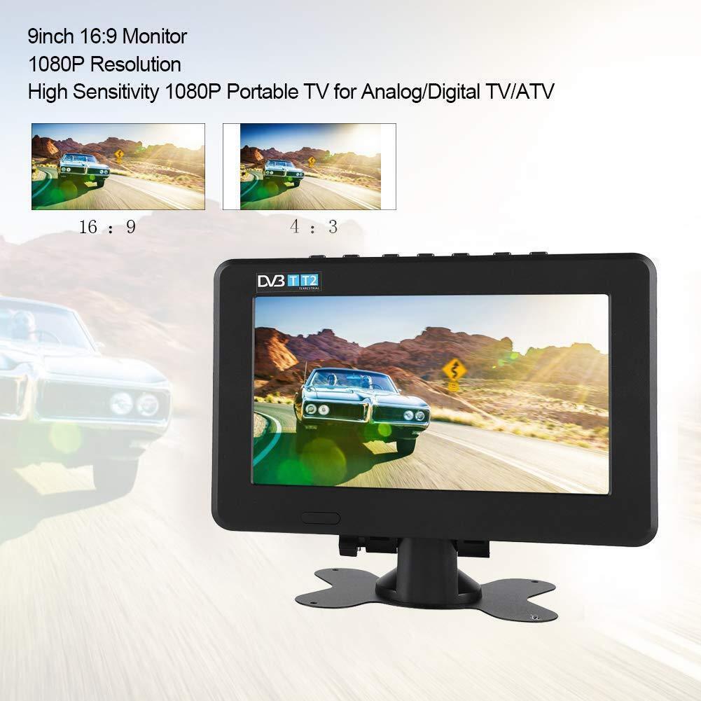 Bewinner LEADSTAR DVB-T2 - Televisor digital para coche (7/9/10 pulgadas, DVB-T2 TV, 1080P, HD, pantalla de visión libre, LED, para TV analógica/ digital o ATV, portátil, para coche, caravana, camping, al aire libre):
