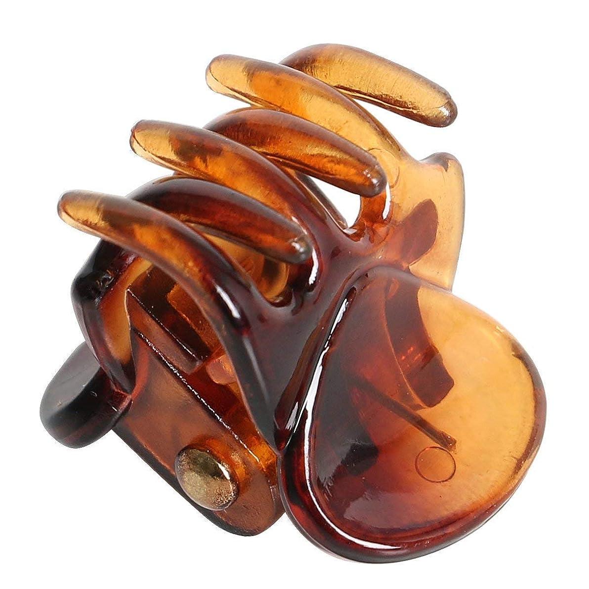 食べるセラー銃Semoic ヘアクリップ ブラウン ミニヘアピン ブラウン スタイリッシュ クランプ クリップx 12