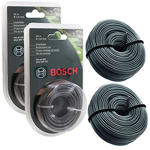 Spares2go Fil de recharge pour coupe-bordures électrique Bosch ART 24, 27, 30, 36 - 48 m, 1,65 mm
