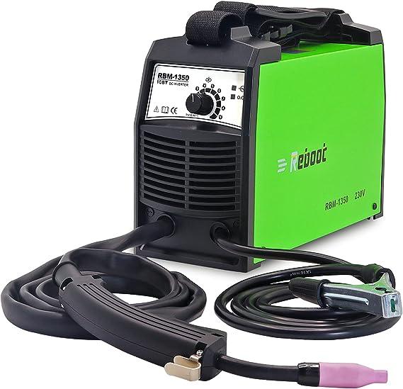 Reboot soldador mig sin gas MIG 135A IGBT 230V±15% 1kg hilo